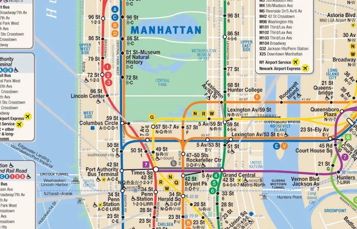 metro new york treni linee prezzi mappa e stazioni
