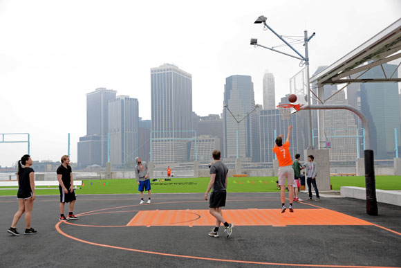 Brooklyn Bridge Park Basketball